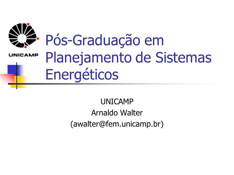 Pós-Graduação em Planejamento de Sistemas Energéticos