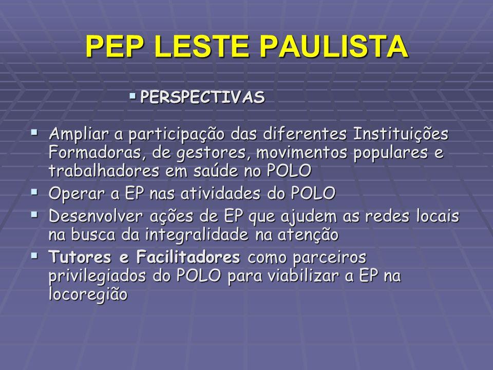 PEP LESTE PAULISTA PERSPECTIVAS.