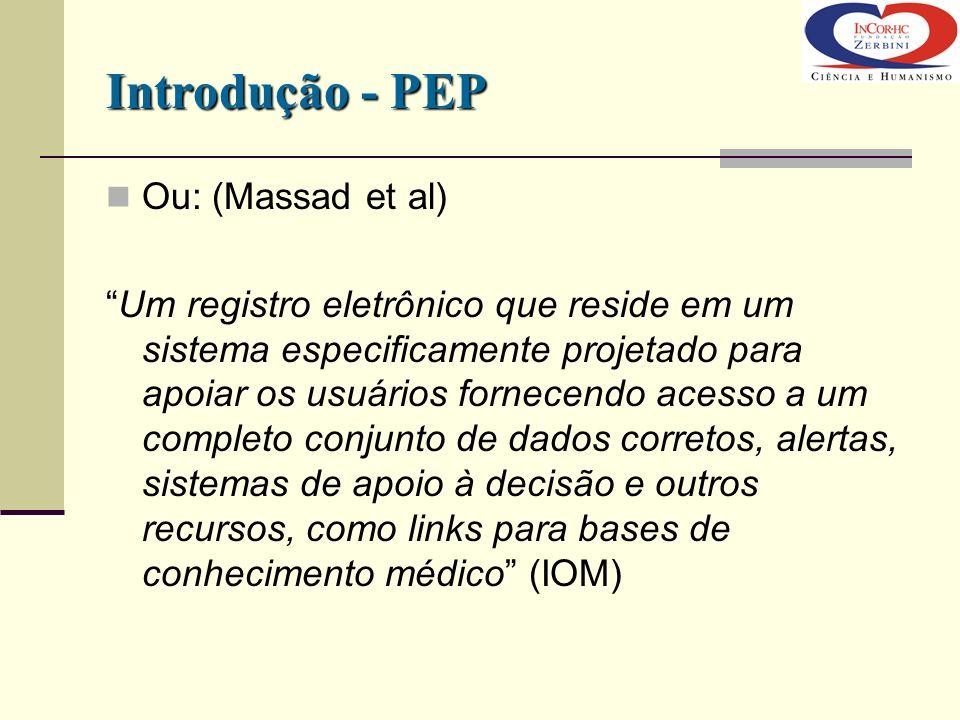 Introdução - PEP Ou: (Massad et al)