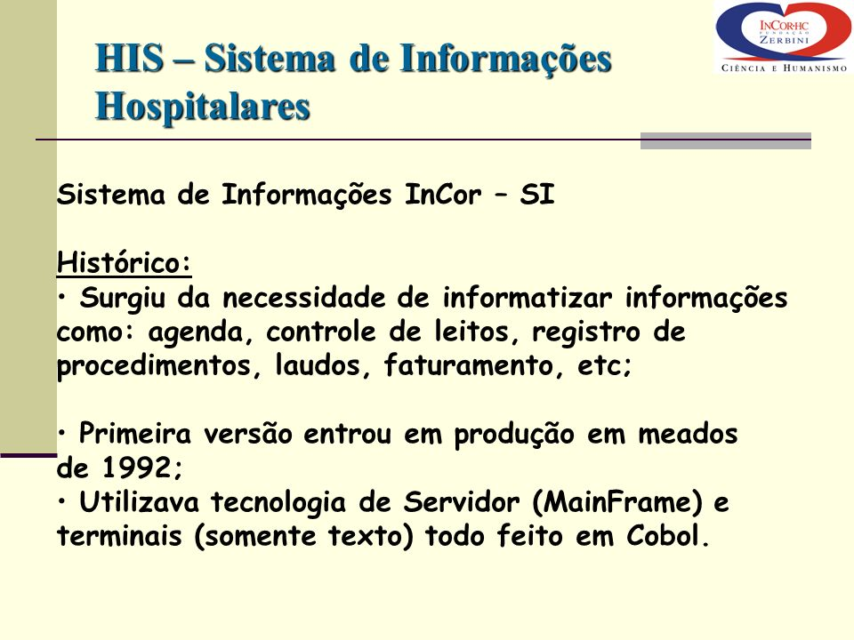 HIS – Sistema de Informações Hospitalares