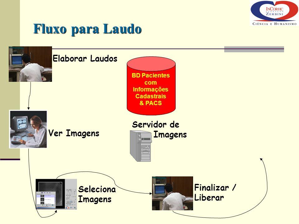 Fluxo para Laudo Elaborar Laudos Servidor de Imagens Ver Imagens