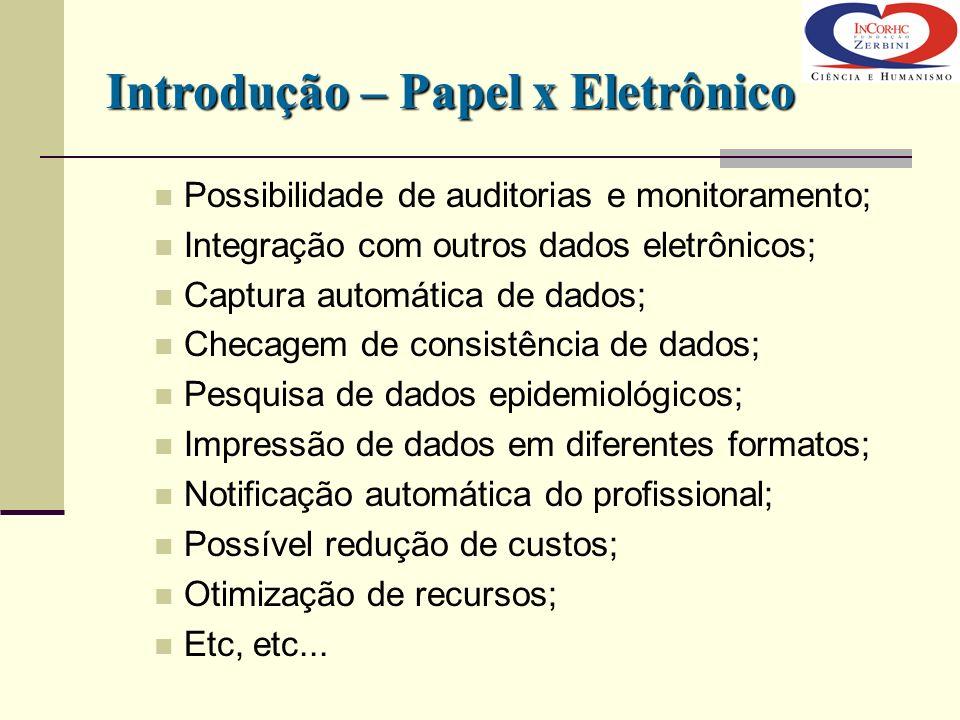 Introdução – Papel x Eletrônico