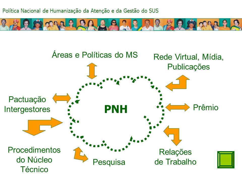 PNH Áreas e Políticas do MS Rede Virtual, Mídia, Publicações