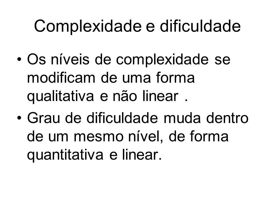 Complexidade e dificuldade