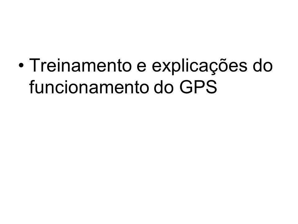 Treinamento e explicações do funcionamento do GPS
