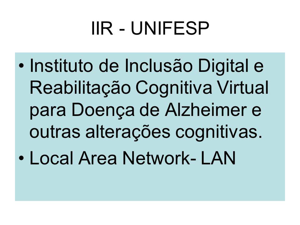 IIR - UNIFESP Instituto de Inclusão Digital e Reabilitação Cognitiva Virtual para Doença de Alzheimer e outras alterações cognitivas.