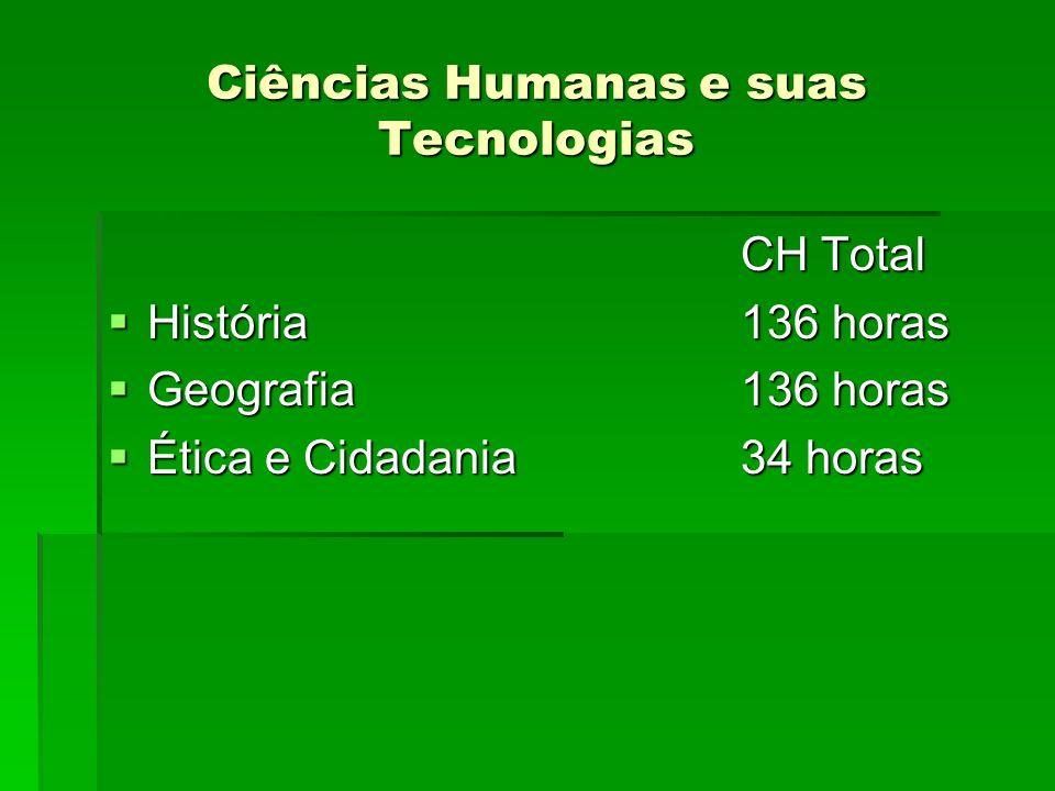 Ciências Humanas e suas Tecnologias