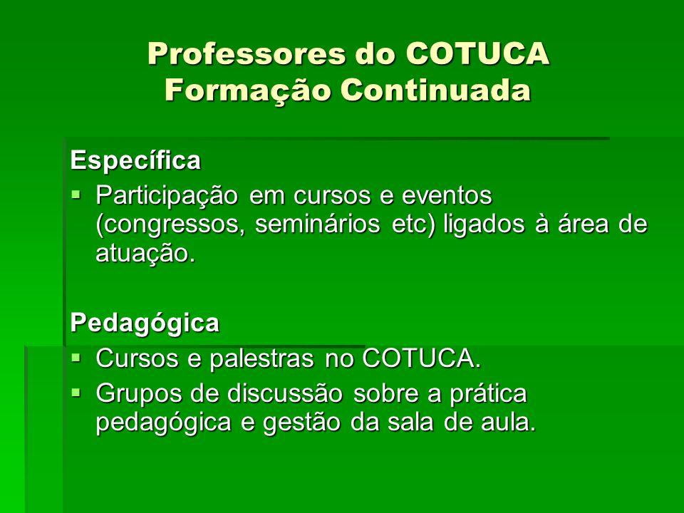 Professores do COTUCA Formação Continuada