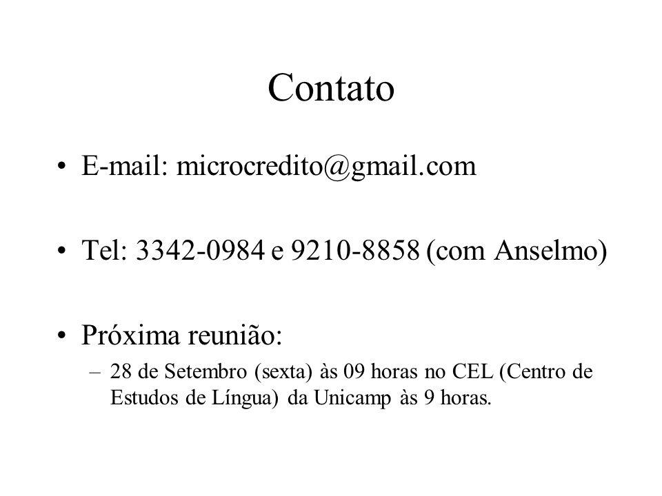 Contato E-mail: microcredito@gmail.com