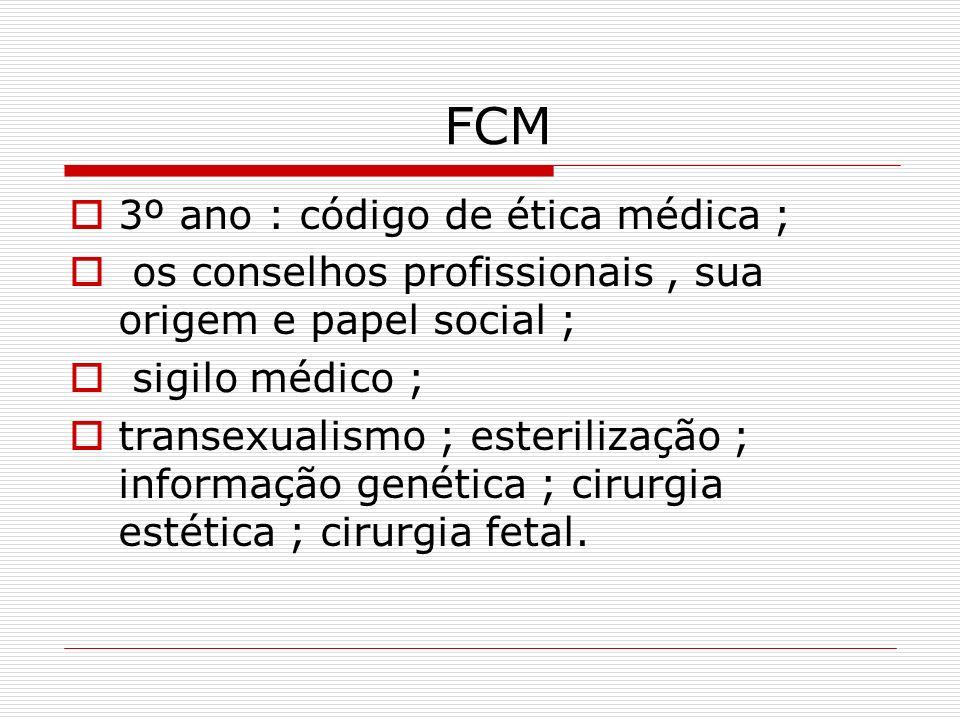 FCM 3º ano : código de ética médica ;