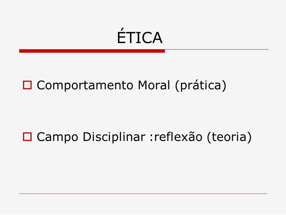 ÉTICA Comportamento Moral (prática)