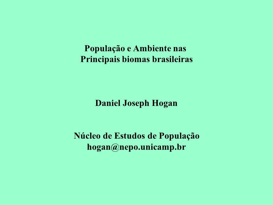 População e Ambiente nas Núcleo de Estudos de População