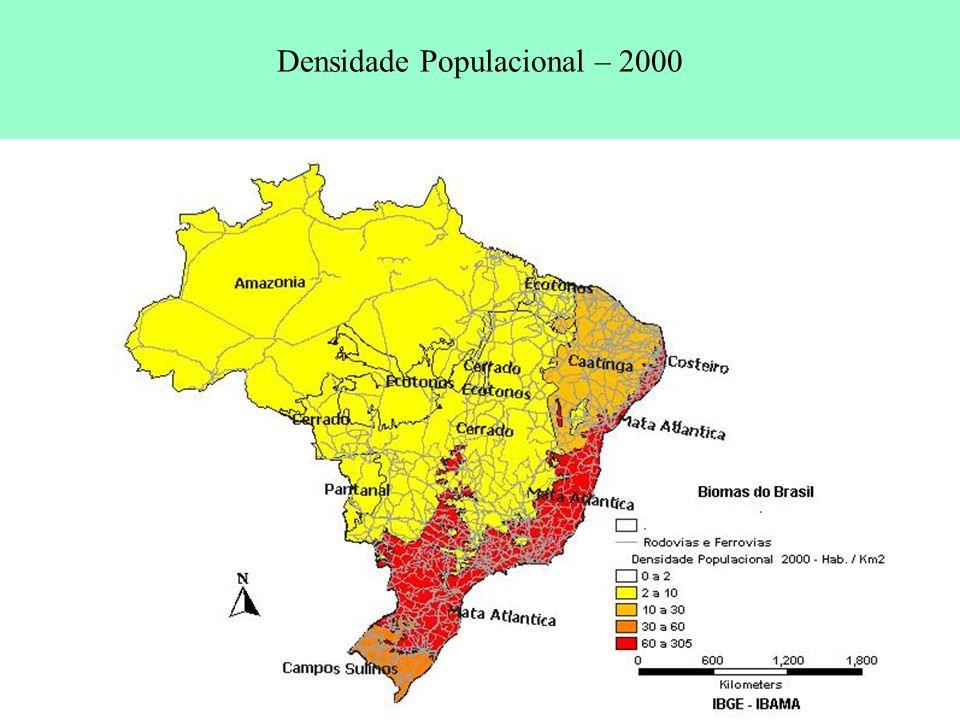 Densidade Populacional – 2000