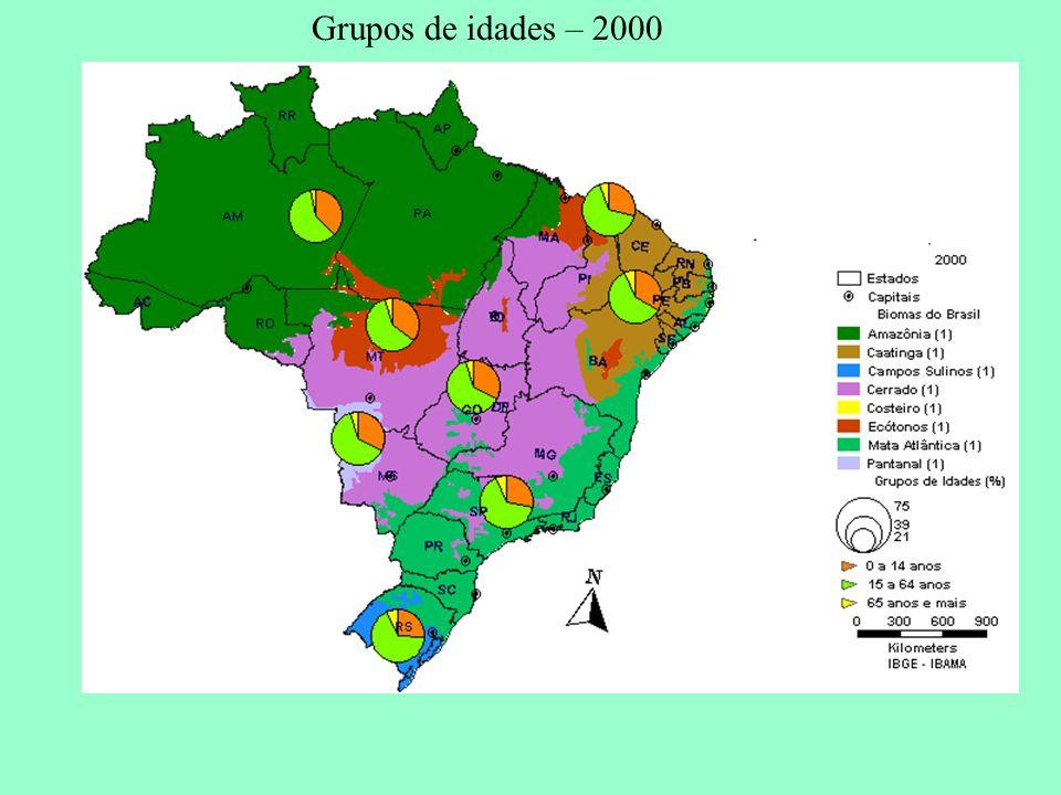 Grupos de idades – 2000