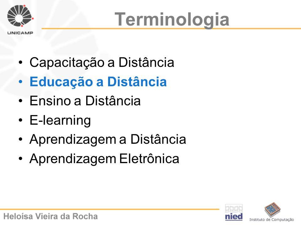 Terminologia Capacitação a Distância Educação a Distância
