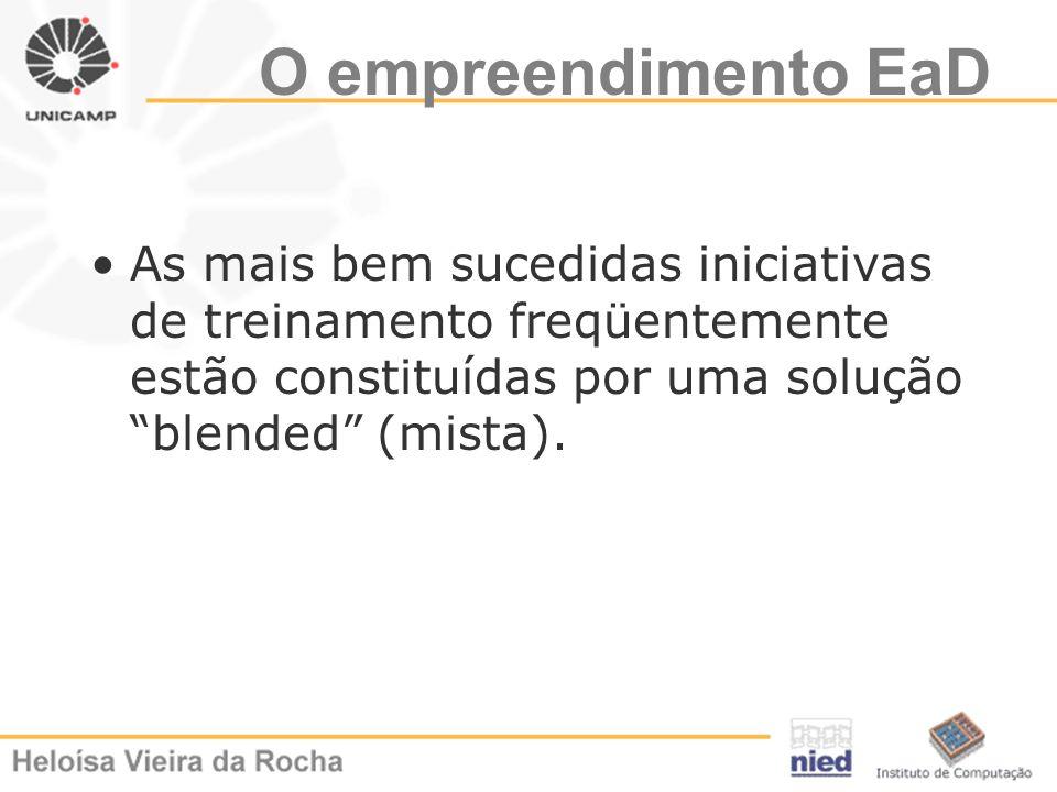 O empreendimento EaDAs mais bem sucedidas iniciativas de treinamento freqüentemente estão constituídas por uma solução blended (mista).