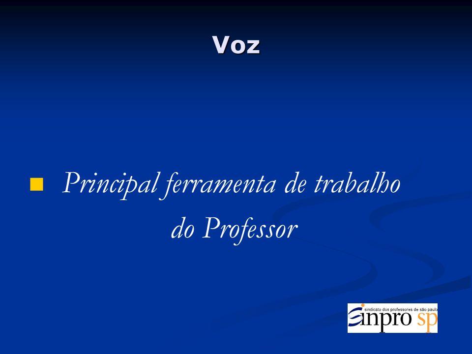 Principal ferramenta de trabalho do Professor