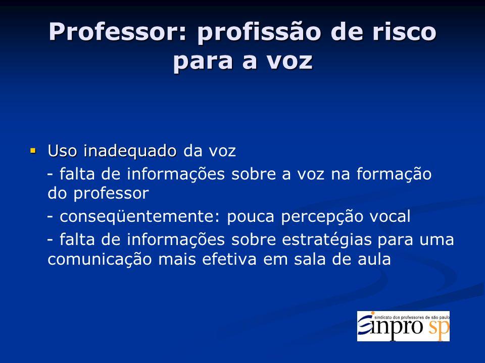 Professor: profissão de risco para a voz