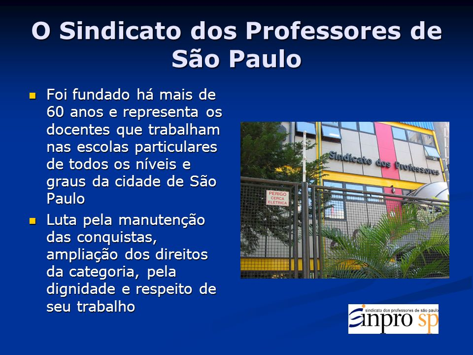 O Sindicato dos Professores de São Paulo