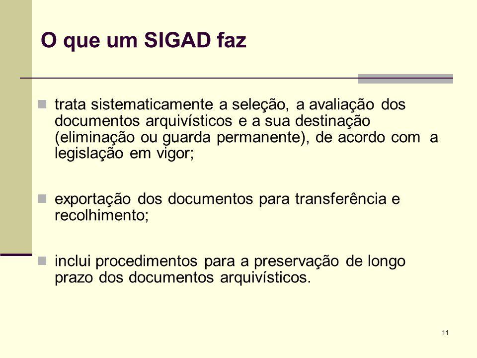 O que um SIGAD faz