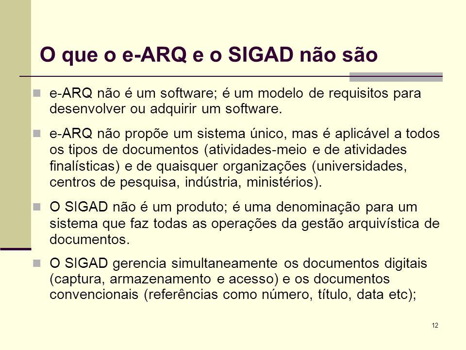 O que o e-ARQ e o SIGAD não são