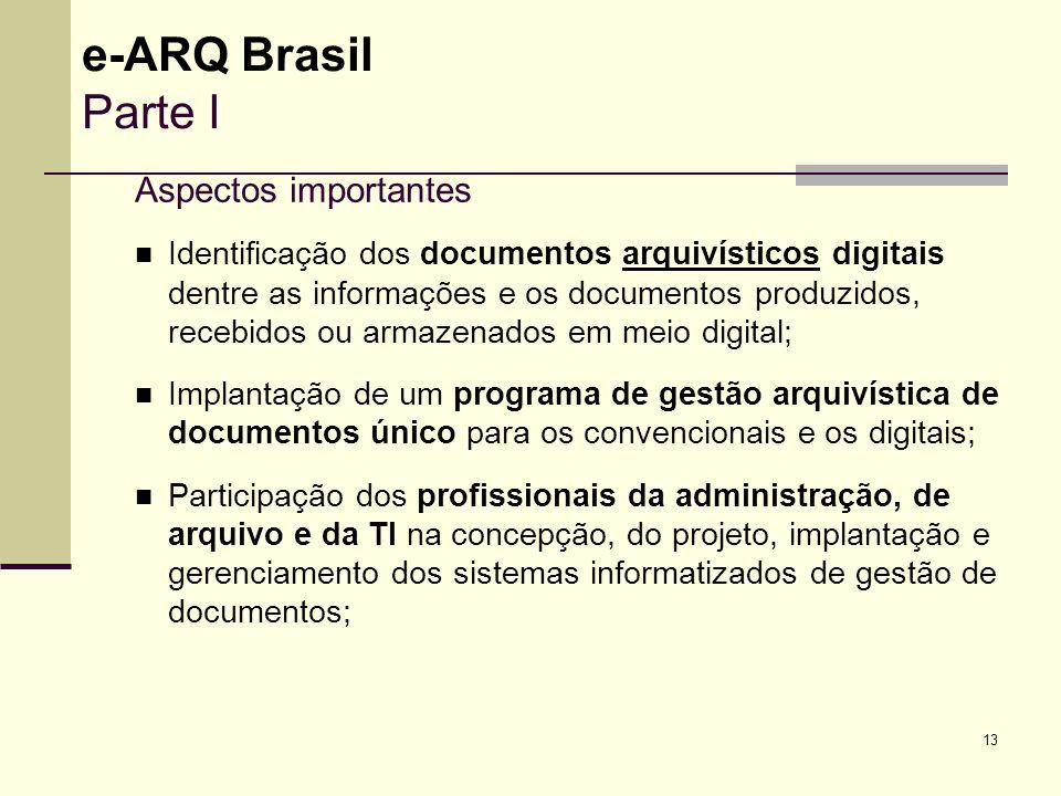 e-ARQ Brasil Parte I Aspectos importantes