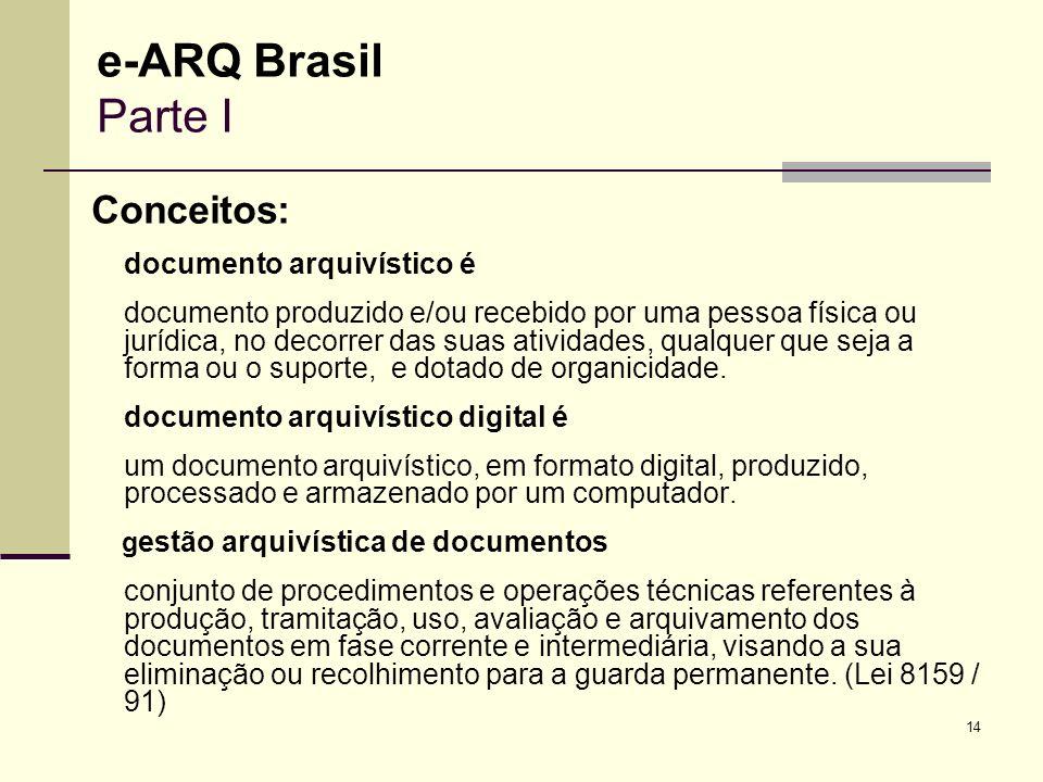 e-ARQ Brasil Parte I Conceitos: