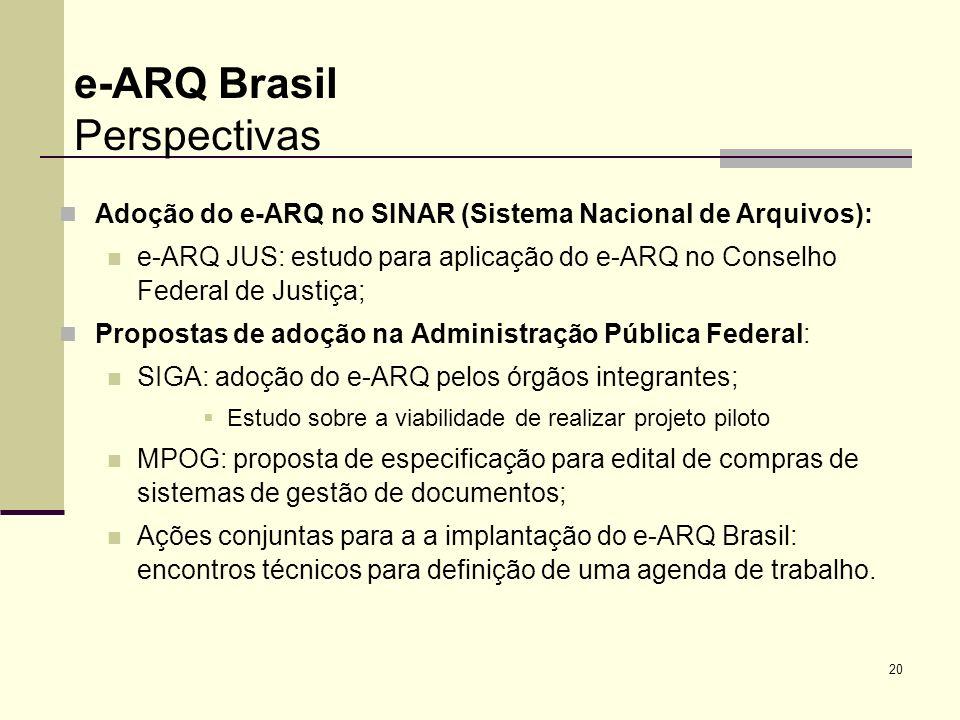 e-ARQ Brasil Perspectivas