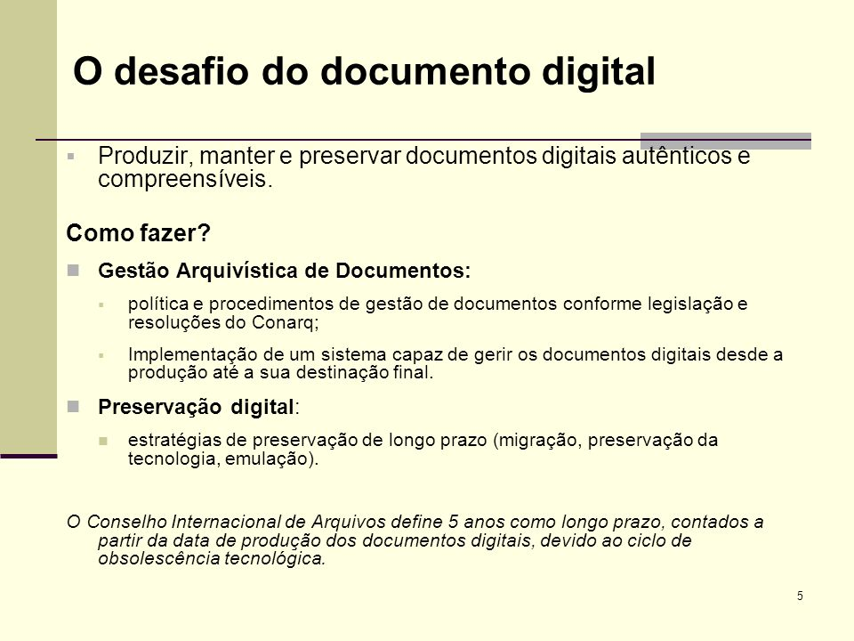 O desafio do documento digital