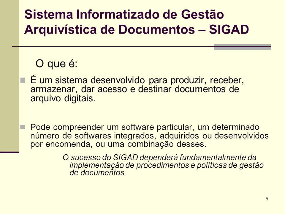 Sistema Informatizado de Gestão Arquivística de Documentos – SIGAD