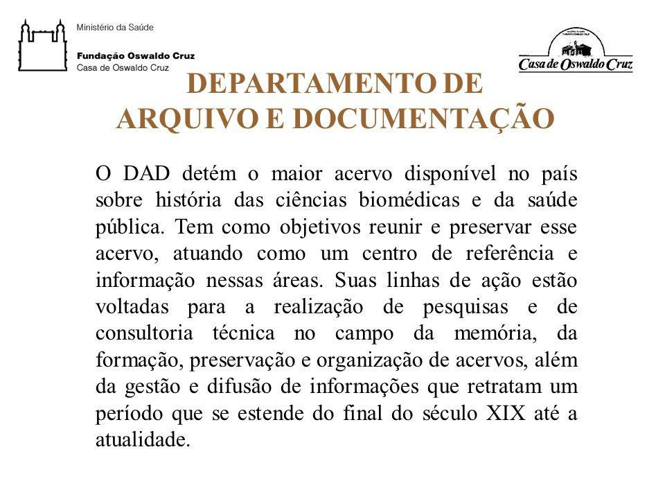 ARQUIVO E DOCUMENTAÇÃO