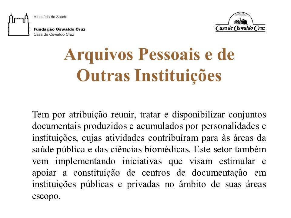 Arquivos Pessoais e de Outras Instituições