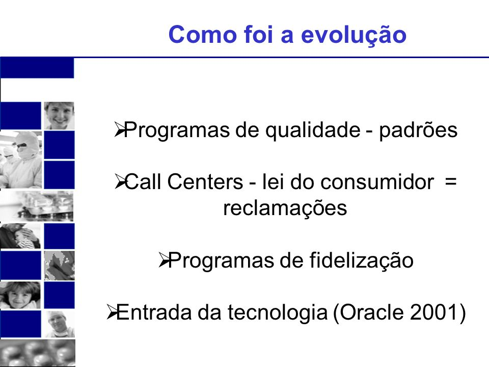 Como foi a evolução Programas de qualidade - padrões