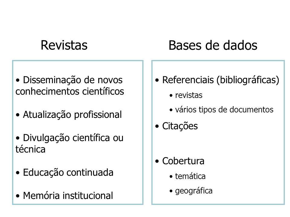 Revistas Bases de dados