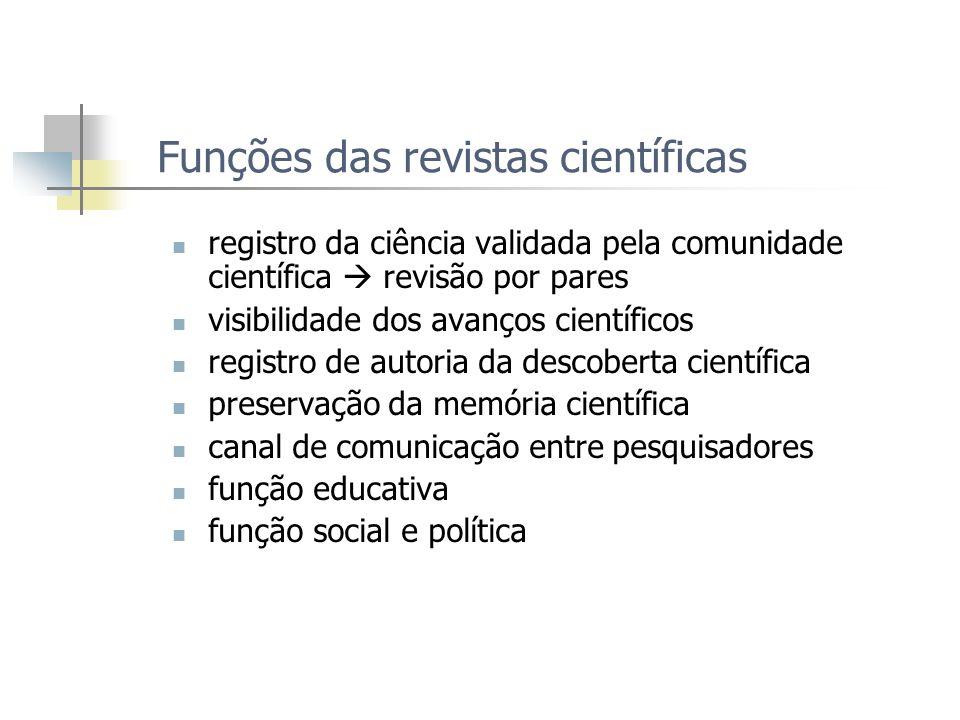 Funções das revistas científicas