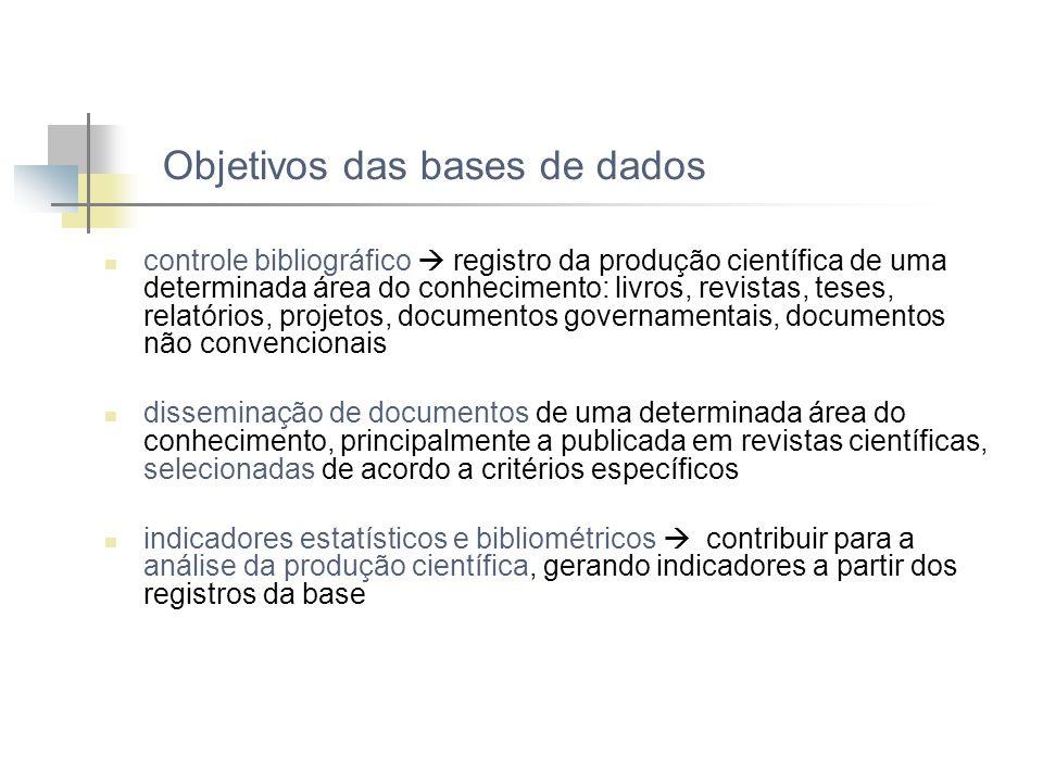 Objetivos das bases de dados