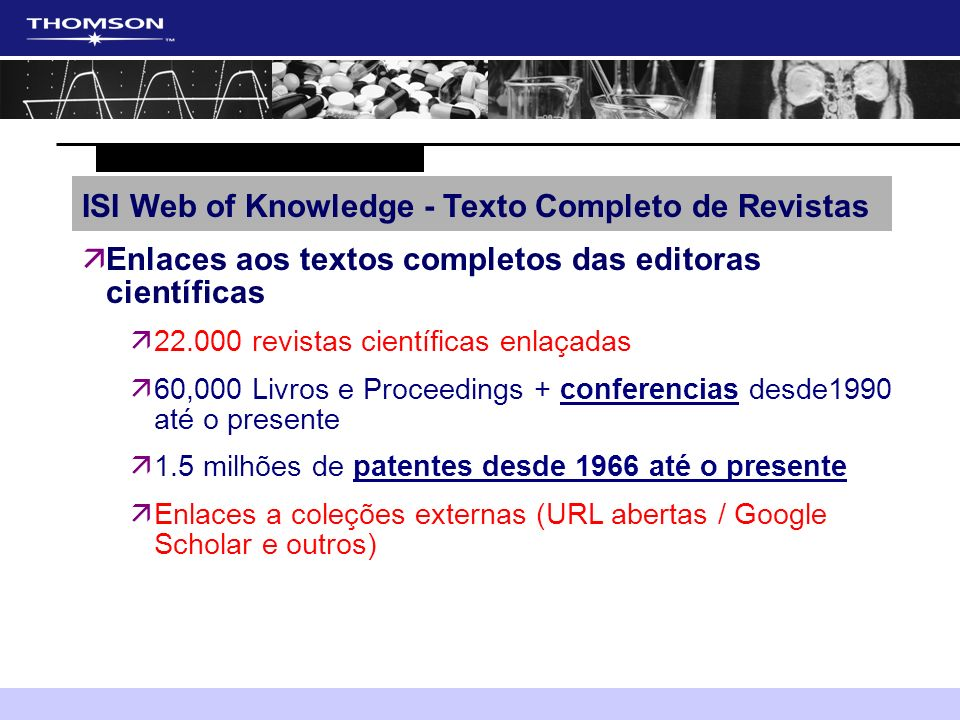 ISI Web of Knowledge - Texto Completo de Revistas