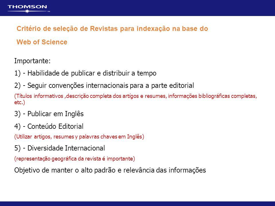 1) - Habilidade de publicar e distribuir a tempo
