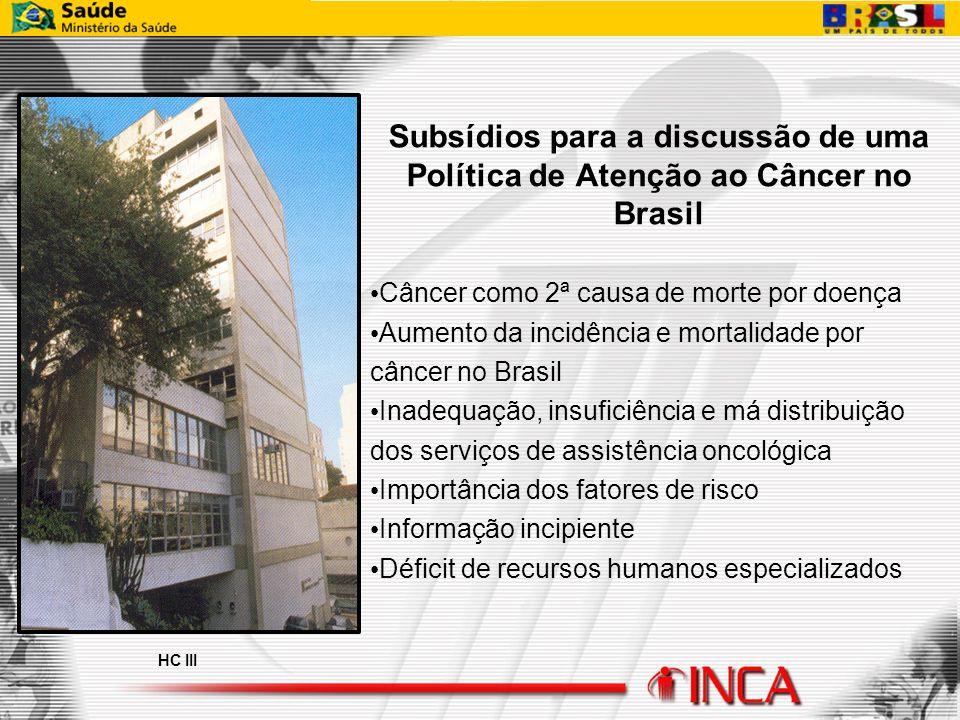 Subsídios para a discussão de uma Política de Atenção ao Câncer no Brasil