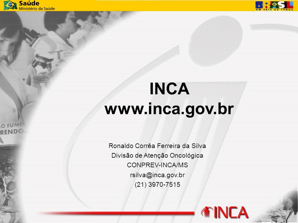 INCA www.inca.gov.br Ronaldo Corrêa Ferreira da Silva