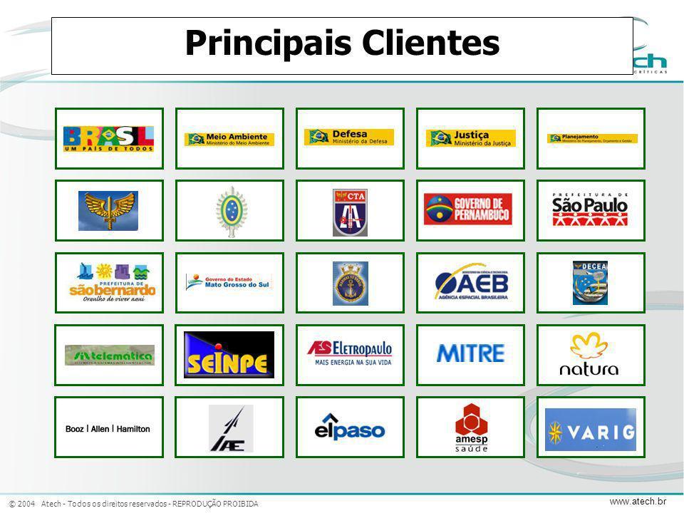 Principais Clientes Adicionar logos do clientes ao invés de nomes por extenso.