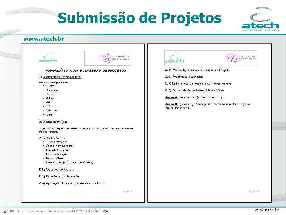Submissão de Projetos www.atech.br
