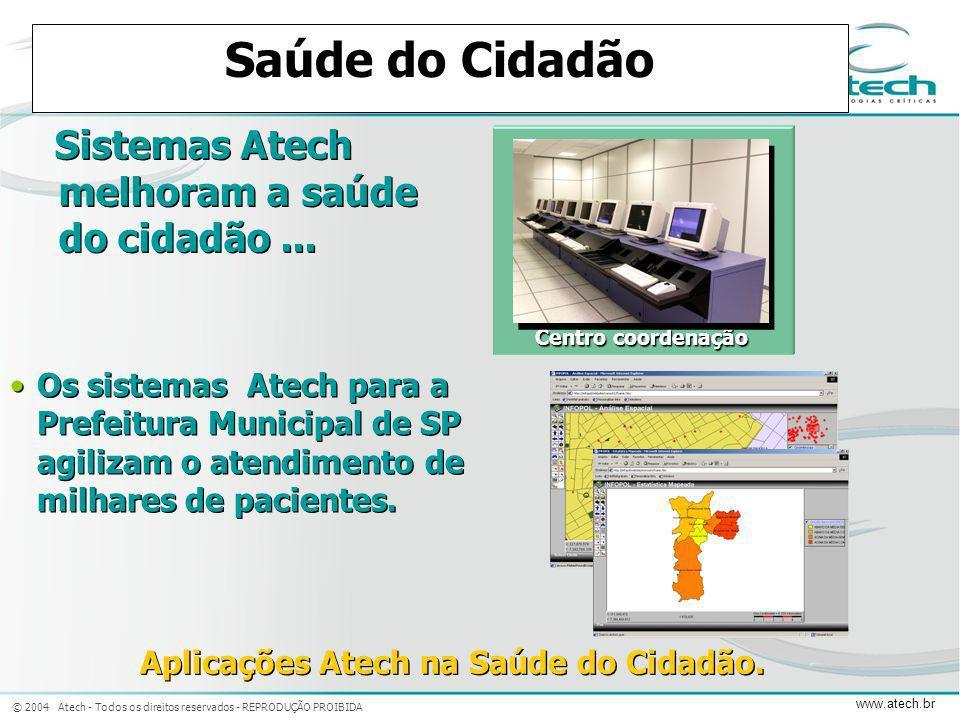 Aplicações Atech na Saúde do Cidadão.