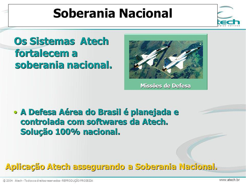 Aplicação Atech assegurando a Soberania Nacional.