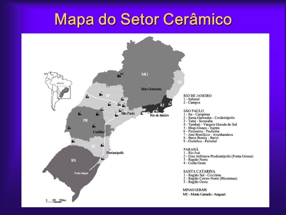 Mapa do Setor Cerâmico