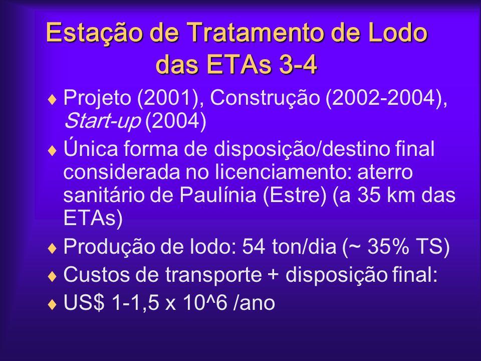 Estação de Tratamento de Lodo das ETAs 3-4