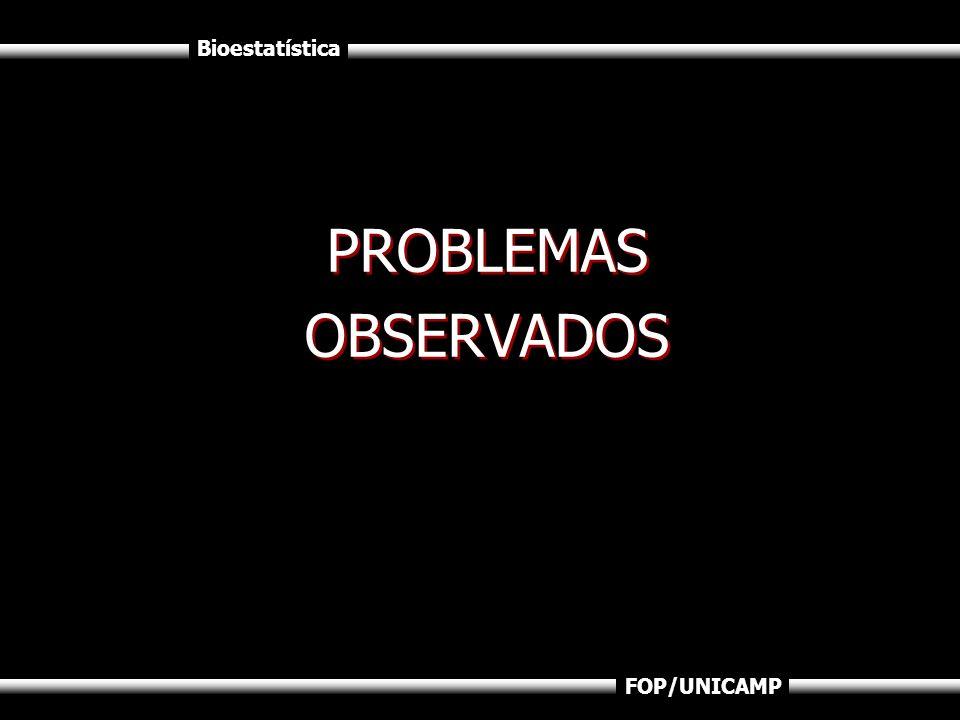 PROBLEMAS OBSERVADOS