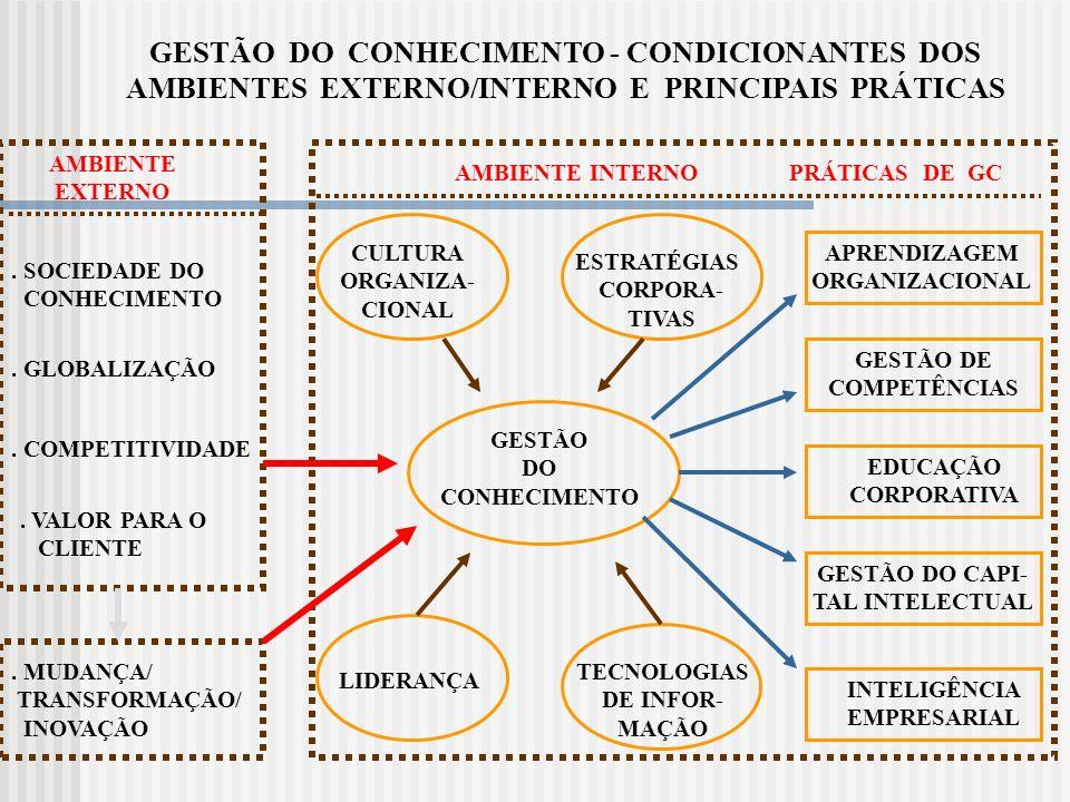 GESTÃO DO CONHECIMENTO - CONDICIONANTES DOS