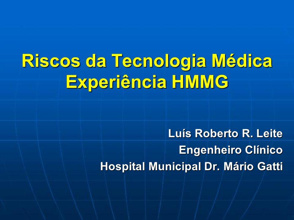 Riscos da Tecnologia Médica Experiência HMMG
