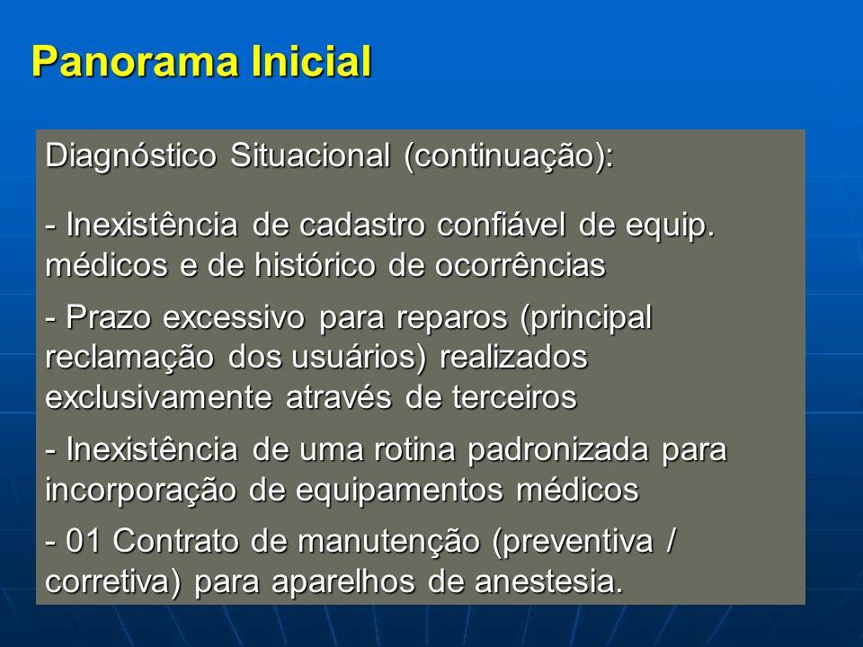 Panorama Inicial Diagnóstico Situacional (continuação):